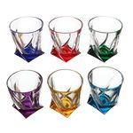 Набор стаканов Bohemia 0338 Quadro цветные 350мл 6 шт в Симферополе