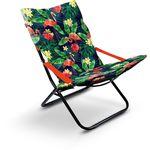 Кресло шезлонг Ника Haushalt HHK4P/F принт с фламинго в Симферополе
