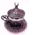 Чашка с блюдцем Acar нескафе мет+фарф. серебро антик в Симферополе