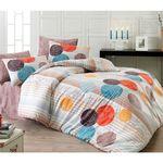Комплект постельного белья Bahar Kamelya Евро Ранфорс оранжевый (200-50) в Симферополе