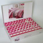 Комплект постельного белья Bahar Fashion Евро Ранфорс розовый (200-50) в Симферополе