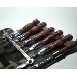 Шампур Китай набор 8пр. в чехле 60см дерев. ручка в Симферополе