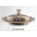 Сахарница Acar Локум овал c крышкой11х5,5см серебро в Симферополе