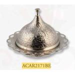 Сахарница Acar 2171BE Локум с крышкой д-10см серебро в Симферополе