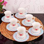 Кофейный набор Kosova GPF-10 12пр. Цветы в Симферополе
