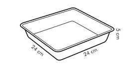 Лист Tescoma 623062 Delicia для выпечки квадратный 22х22см в Симферополе