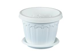 Горшок Эльф Пластик 158 Флавия 1.4л белый подвесной в Симферополе