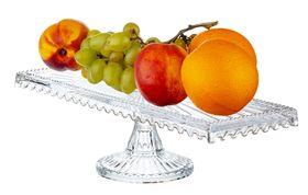 Блюдо Alegre Glass 50952 ПУ на ножке Дамла Батом 14x39,5 см в Симферополе