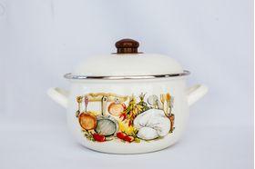 Кастрюля Caprice 151-1812 Эмаль 2.8л мет. крышка Кухня в Симферополе