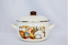 Кастрюля Caprice 151-2012 Эмаль 3,8л мет. крышка Кухня в Симферополе