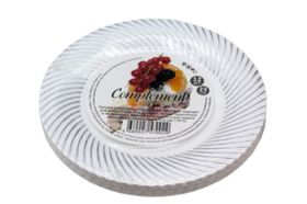 Тарелка D.R.V. Tambien пласт. сереб. волна. 230мм 12шт в Симферополе
