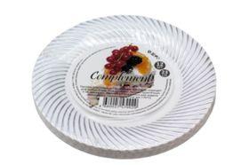 Тарелка D.R.V. Tambien пласт. сереб. волна. 180мм 12шт в Симферополе