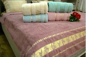 Покрывало Bahar Bamboo махровое 200х220 фиолетовое в Симферополе