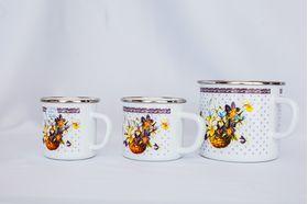 Кружка Caprice 630-0330 Эмаль 0,33л 9см Цветочная Корзина в Симферополе