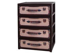 Комод Elfplast 444 Элеганс с рисунком чемодан коричневый в Симферополе