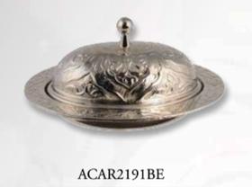 Сахарница Acar Локум овал c крышкой11х8см серебро в Симферополе