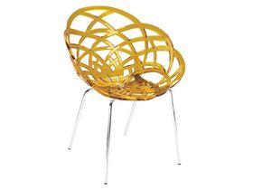 Кресло Papatya Flora-ML прозр. оранжевый р-50 в Симферополе