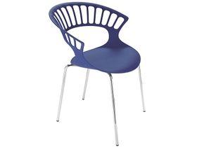 Кресло Papatya Tiara фиолет р-23, хром. ножки в Симферополе