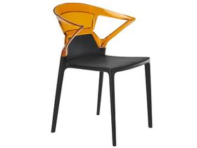 Кресло Papatya Ego-K черн. р-09/прозр.оранжевый р-33 в Симферополе