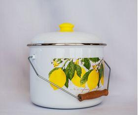 Кастрюля Caprice 299-2622 10.5л 0,8мм Лимоны в Симферополе