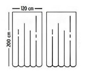 Штора для ванной Harput Miranda 09514 тканевая 2-я 120х200 зеленый в Симферополе