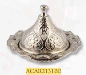 Сахарница Acar 2131BE Локум с крышкой д-7см серебро в Симферополе