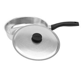 Сковорода Биол 2207БК пласт. ручка с крышкой гладкое дно Д220 в Симферополе