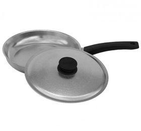 Сковорода Биол 1804БК пласт. ручка с крышкой гладкое дно Д180 Блеск в Симферополе