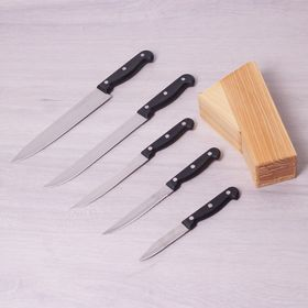 Набор ножей Kamille 5121 на подст.из нержавеющей стали 6пр. в Симферополе