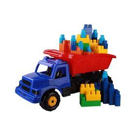 Машинка Альтернатива М5479 детская Самосвал+конструктор 76шт бол. в Симферополе