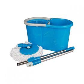 Ведро с отжимом со шваброй Альтернатива Уют 4652 голубая в Симферополе