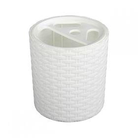 Подставка для зубных щёток Альтернатива 2534 Плетенка бел в Симферополе