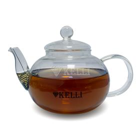 Чайник Kelli 3077 заварник стелянный 0,8 л в Симферополе
