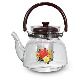 Чайник Kelli 3004 жаропрочный стекл. 2,2л в Симферополе