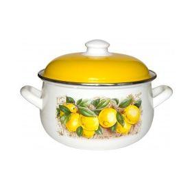 Кастрюля Caprice 299-2218 6,3л 0,8мм Лимоны в Симферополе