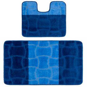 Коврик Confetti 3711 в ванную 2 пр. Люкс (60х100, 50х60) синий в Симферополе