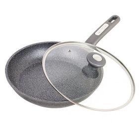 Сковорода Kamille 4272 гранит 26см с крышкой в Симферополе