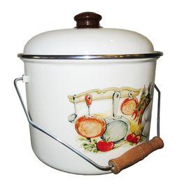 Кастрюля Caprice 151-2218 Эмаль 6,3л 0,8мм Кухня в Симферополе