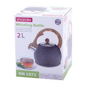 Чайник Kamille 1071 2л из нержавеющей стали со свистком в Симферополе
