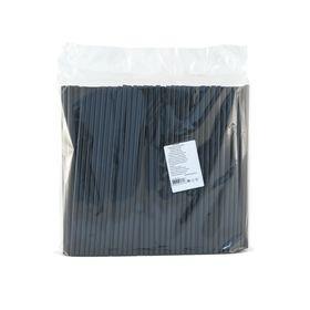 Трубочки Paterra 401-913 8x240мм прямая черная 250шт в упаковке в Симферополе