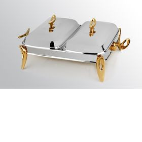 Мармит MAT Steel 914 двойной серебро золото 2х1,2л. 49х29х21см в Симферополе