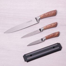 Набор ножей Kamille 5042 3 ножа и магнитная планка в Симферополе