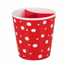 Стойка Альтернатива Горошек М2682 для столовых приборов красный в Симферополе