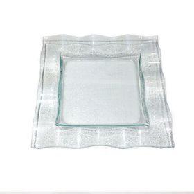 Тарелка 3D Glassware 2525-1701-94-002 квадрат волна 25х25 в Симферополе