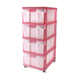 Комод DDStyle 4-х 04004 розовый в Симферополе