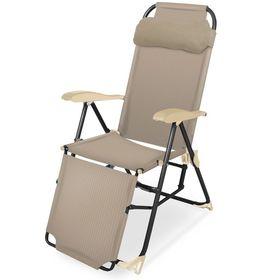 Кресло шезлонг Ника К3 с подножкой 3 Песочный в Симферополе