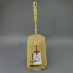 Ёршик для туалета DDStyle 11118 Ратан плетенка бежевый в Симферополе