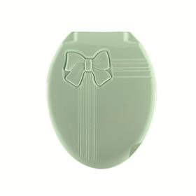 Крышка унитаза DDStyle 1018 Бантик зеленый литая в Симферополе