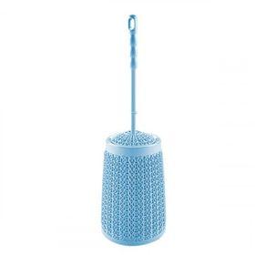Ёршик для туалета DDStyle 11138 вязаный узор голубой в Симферополе