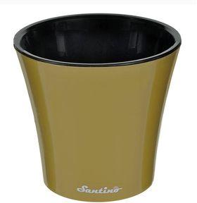 Горшок Santino Арте 20х22 5л золотой-черный в Симферополе